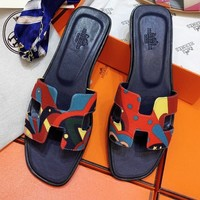 Hermes sells 3D printed canvas casual sandals and slippers