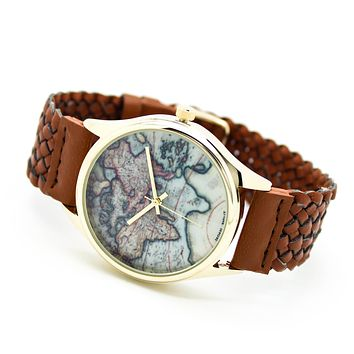 World map watch (5 colors)