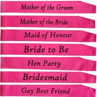 1PC Pink bachelorette party Sashes