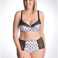 Plus Size Polka Dot French Full Coverage Bra by Cacique   Lane Bryant