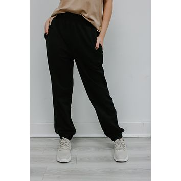 Lounge Around Sweatpants - Black