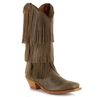 Twisted X Women's Steppin' Out Fringe Western Boots