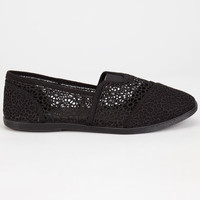 SODA Womens Crochet Stretch Slip-On Shoes | Casuals & Flats