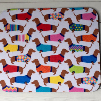 Mouse PAD - Mat - MousePad - Rectangle - Dachshunds weenie dogs