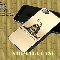 Dont Tread on Me Metallic for iphone case, Samsung Galaxy Case, iPod Case, HTC Case, Blackberry Case, Sony Case