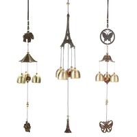 Copper Windchimes Butterfly Elephant Outdoor Garden Wall Hanging Decoration Ornaments