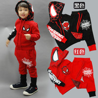 Spiderman Children Boys Clothing set Baby Boy Spiderman Sports Suits 2-6 Years 2pcs Sets Tracksuits
