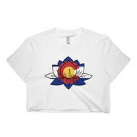 Colorado Lotus Short Sleeve Crop Top