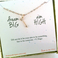 inspirational necklace, rose gold arrow, friend gift, support gift, graduation gift, ready to ship gift, motivational gift