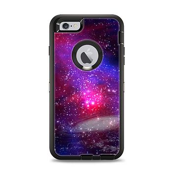 The Vivid Pink Galaxy Lights Apple iPhone 6 Plus Otterbox Defender Case Skin Set