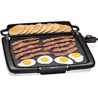 Electric Nonstick  Griddle with Warming Tray