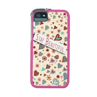 Stay Beautiful - Cute Love Hearts - Romantic Valentine's iPhone 5/5S Case