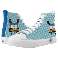 Argentina Lacrosse High Tops Sneakers Printed Shoes