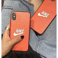 NIKE Fashion New Letter Hook Print Protective Cover IPhone Phone Case