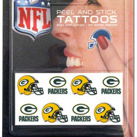 NFL Green Bay Packers 8 Piece Temporary Tattoos