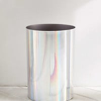 Melinda Holographic Trash Can | Urban Outfitters