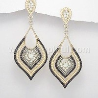 Fashion Jewelry Yellow Gold plated beaded designer Earring
