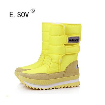 E.SOV 2017 new winter thickening women's shoes snow boots thermal shoes women's boots slip-resistant waterproof boots