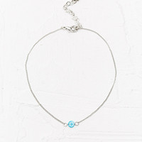 Mini Disc Anklet in Turquoise - Urban Outfitters