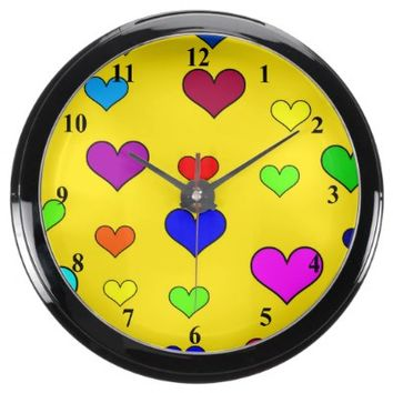 Heart Pattern Clock