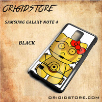 C3PO Hello Kitty Star Wars Black White Snap On 3D For Samsung Galaxy Note 4 Case