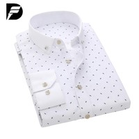 Men Shirts Designer Print Slim Fit Long Sleeve Casual Man Shirt Clothing