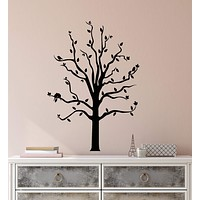 Vinyl Wall Decal Romantic Birds On Tree Leaves Branches Stickers (2479ig)