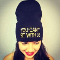 Winter Beanie YOU CANT SIT WITH  UNISEX Hats Touca Sport Skullies Casual Caps Cotton Wool Knitted Hat  And