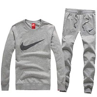 Trendsetter NIKE Women Men Lover Top Sweater Pants Trousers Set Two-Piece