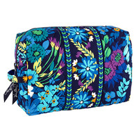 Large Cosmetic In Midnight Blues By Vera Bradley 10108-136