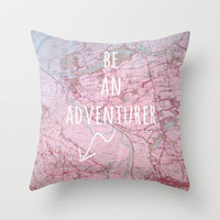 Be An Adventurer Throw Pillow by Ally Coxon   Society6