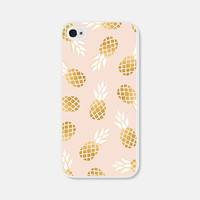 Pink and Gold Pineapple iPhone 5c Case - Pineapple iPhone 5 Case - Pineapple iPhone 4s Case - Pineapple iPhone 5s Case - Blush Pink iPhone