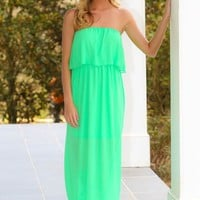 Stepping Out Maxi Dress-Spring Green