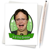 The Office. Jim And Pam. Dwight Schrute. Funny Birthday. Boyfriend Gift. Funny Birthday Gift. Birthday Card. Boyfriend Bday Gift. Funny Gift