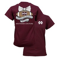 Southern Couture MSU Bulldogs Mississippi State Vintage Football T-Shirt