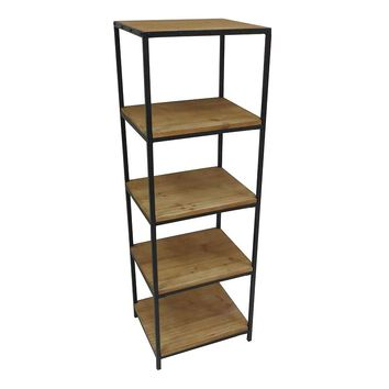 SONOMA life + style Clayton 4-Shelf Large Bookcase (Brown)