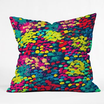 Rebecca Allen Firework Garden Throw Pillow
