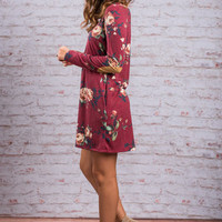 Call To Action Dress, Burgundy