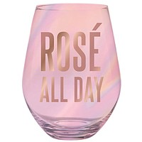 Rose All Day Oversize Stemless Wine Glass in Transparent Pink | 30 oz. holds an entire bottle of wine!