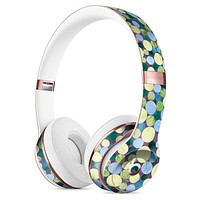 Mixed Blue and Green Watercolor Dots Full-Body Skin Kit for the Beats by Dre Solo 3 Wireless Headphones