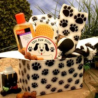 Paw Prints Doggie or Cat Care Gift Box