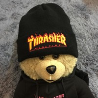 Thrasher Winter Couples Alphabet Embroidered Knit Hats
