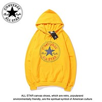 Converse Autumn And Winter New Fashion Bus Letter Star Print Women Men Leisure Hooded Long Sleeve Sweater