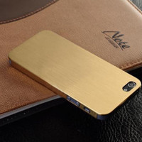 New Ultra Thin Brush Metal Aluminum Case Cover Shell Back For iPhone 4 4s / 5 5s