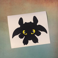Toothless Laptop Car Decal