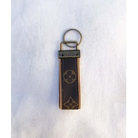 Upcycled LV Key Fob Small