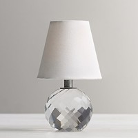 Mini Lourdes Crystal Ball Lamp With Shade