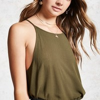 Textured Crochet-Trim Cami