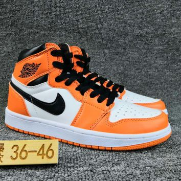 Women's and Men's NIKE Air Jordan 1 generation high basketball shoes  022