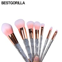 7pc/set Brands Brands Makeup Brush Crystal New Makeup set Brush Colorful Makeup Brush Diamonds Blending Brush beauty tools kits